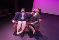 Ben Bryant (Cregor Samsa), left, and Lulu Ward (Mrs. Samsa) perform a scene from Metamorphosis II at the Bath House Cultural Center on Friday, July 11, 2014.  The play is part of Festival of Independent Theatres.(Rex C. Curry - Special Contributor)