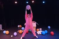 """Jeff Colangelo performs a scene from """"Playtime"""" at the Bath House Cultural Center on Friday, July 11, 2014.  The play, written by Colangelo, is part of Festival of Independent Theatres.(Rex C. Curry - Special Contributor)"""
