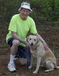 Jack Milligan, 82, of Highland Village walks his dog, Daisy, no matter how sick chemotherapy makes him.David Woo  -  Staff Photographer