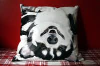 Urquhart took a photo of her corgi, Magnus, in his favorite pose and had it printed on fabric to make a pillow.