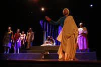 Black Nativity from TeCo Theatrical Productions features a dynamic, versatile ensemble of 23, including Avante Perkins (foreground).( Nathan Hunsinger  -  Staff Photographer )