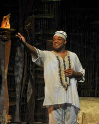 Calvin Roberts (as King) appears in Mufaro's Beautiful Daughters, presented by Dallas Children's Theater.
