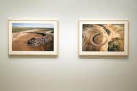 """earth artist"" Robert Smithson's photographs of Amarillo Ramp at the Dallas Museum of Art, Thursday, January 16, 2013."