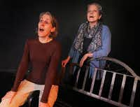 Rhonda Blair (left) plays the Coyote as a determined pioneer in NYC Coyote Existential, which Melissa Cooper (right) wrote after sighting a coyote in New York's Central Park two years ago.