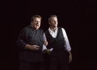 Ben Heppner as Tristan and Ryan McKinny as Kurwenal in Houston Grand Opera's Tristan and Isolde.