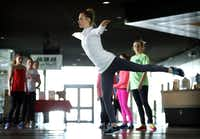 Team USA figure skater Ashley Cain works on her form during her father/coach Peter Cain's practice at the Dr Pepper Star Center in Euless, Wednesday, January 22, 2014. Cain is a 4-time National medalist who hopes to compete in the 2018 Olympics.