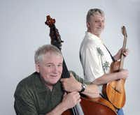 L-R: Keith Grimwood and Ezra Idlet make up the musical duo Trout Fishing in America.
