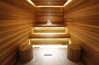 The dry sauna at the Espa inside the Joule offers guests another way to relax. The spa also has a vitality pool and an experience shower whose water is set at a precise temperature.