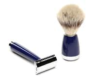 Groomed for success: For the man who appreciates the tradition and comfort of wet shaving, premium accessories from Jack Black will keep him well groomed. A German engineered, double edge razor provides a smooth glide. The shave brush has high quality, non-porous fibers. $125 each at Stanley Korshak.