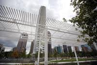 One of two pergolas at Klyde Warren Park in Dallas, TX on October 22, 2012.