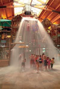 The tipping bucket at Great Wolf LodgeCourtesy Photo