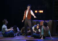 "Jeremy Dumont as Tom Sawyer, center, choreographed Casa Manana's reviving of ""Big River,"" the musical version of Huckleberry Finn, as performed, Tuesday, September 24, 2013."