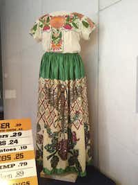 An original waitress uniform from El Chico restaurant is part of the upcoming exhibition at the Smithsonian Institution's National Museum of American History in Washington, D.C.