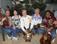 Maurice Anderson (from left), Teresa Anderson, Art Greenshaw, Jim Baker and Dion Pride make up the current Light Crust Doughboys, a group that has been around since 1931, and will perform at the Pocket Sandwich Theatre in the summer and fall of 2012.