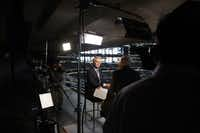 CBS Evening News anchor and managing editor and 60 Minutes Correspondent Scott Pelley interviewed Dallas Cowboy owner Jerry Jones at AT&T Stadium on Friday, October 4, 2013.
