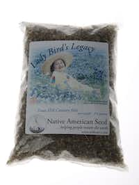Lady Bird's Legacy wildflower mix from Native American Seed includes Drummond phlox, lemon mint, pink evening primrose and more. $33.99 at Nicholson-Hardie Garden Shop, Dallas.
