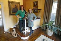 Interior designer Dona Rosene (left) worked with Helsley to incorporate the homeowner's tastes through the house.(Louis DeLuca - Staff Photographer)