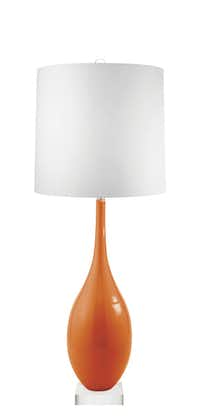 Flip a switch on color by adding a custom Mottega lamp to your space. You choose the shape, base, color and finial. The juicy Mandarin color choice is right on trend. The designer lighting from the Dallas firm starts at $499. mottega.com