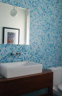 Decorative tiles are used prominently in almost every room.