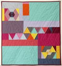 Backside of a quilt made by Belinda Gelhausen.Kye R. Lee