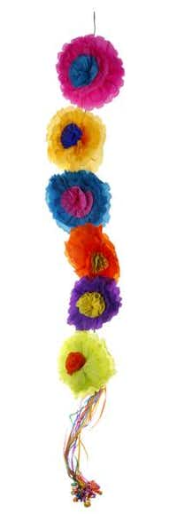 Handmade crepe-paper flowers are twisted into 23- and 36-inch garlands, called ristras in Mexico. $7.95 to $14.95 at La Mariposa, Dallas.Evans Caglage - Staff Photographer