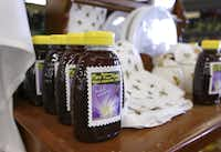 Local honey from Texas Honeybee Guild at Gecko Hardware in Northlake Shopping Center.