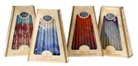 EIGHT NIGHTS OF CANDLES: Enhance each night of the Hanukkah celebration with handcrafted candles. Made in Israel, the 5.25-inch tapers are available in a variety of colors in boxes of 45. $12.99 at the Source Gift Shop, Jewish Community Center of Dallas, 7900 Northaven Road.(Evans Caglage - Staff Photographer)