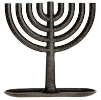 areaware s cast iron hanukkah menorah by josh owen is in the permanent