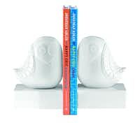 Lola bookends, $42, are from the new Happy Chic by Jonathan Adler collection.