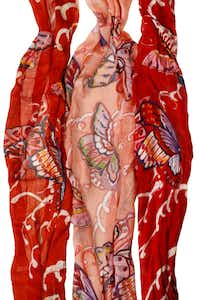 Fringed butterfly scarves, 100 percent cotton, $19.95, Texas Discovery Gardens gift shop