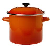 The standard stockpot gets a spicy twist with a range of bold oranges. Le Creuset 8-quart stockpot in flame, $59.95, at Sur La Table, Dallas.