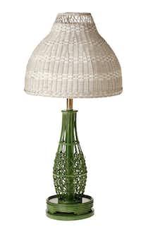Wicker Lamp, $25, from The Samaritan Inn's thrift shop.