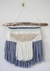 A woven wall hanging made by Rebekah WrightAshley Landis - Staff Photographer