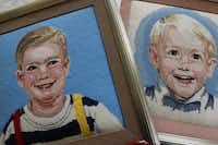Sualice Armstrong stitched portraits of her grandchildren in needlepoint and has contributed the work to an upcoming show at Thistle Hill.