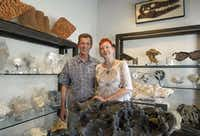 Jim Penix and D Oswalt of Mineral Hunters Gallery in the Dallas Design District deal in fossils, bones, rocks and crystals. Many are from remote locales, such as China's Three Gorges area.Mona Reeder  -  Staff Photographer
