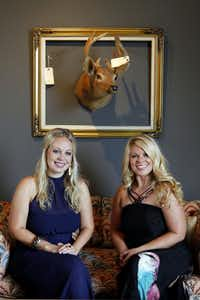 Sisters Brittany Taylor (left) and Tiffany Taylor Lapidus officially open their Scout Design Studio Sept. 4.