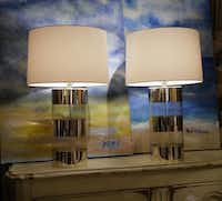 Area 25: mercury-glass lamps, $575/pair; Habersham French buffet, $1475; original art, $685/pair.( Ron Baselice  -  Staff Photographer )