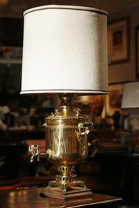 Consignment Heaven: brass samovar lamp, $165.( Kye R. Lee  -  Staff Photographer )