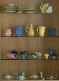 Marla Ziegler's pottery collection.