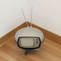 A retro television at Ziegler's house.