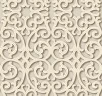 Simulated shadows add depth to the Fortuna pattern by York. Order from Sherwin-Williams stores.(York Wallcoverings)