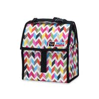 Lunch will stay cool for up to 10 hours when stored in the gel-lined, zip-closed PackIt personal cooler. A zip closure locks in the cold created by the tote's freezable gel liner. The lunch tote has a 72-oz capacity and is available in various patterns and colors. $19.99 in select Bed, Bath & Beyond stores and bedbathandbeyond.comBed Bath & Beyond -  Bed Bath & Beyond