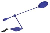 Blue rays: The sleek Trapeze LED light will electrify any desk or tabletop. $350 at Nest, Dallas.