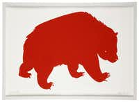 Bearish:Enliven the walls with Red Bear (No. 46 of 200) by Vancouver-based Banquet Atelier. Print ($60) and frame ($40) at We Are 1976, both Dallas locations.(Evans Caglage - Staff Photographer)