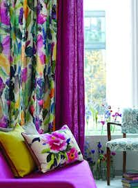 Blooming bolt: We love the Grande Mode fabric from Bluebellgray, starting at about $110 per meter, which would make lovely curtains like those pictured. Scope out products at bluebellgray.com and order by emailing hello@bluebellgray.com; purchases will be shipped from the U.K.( Supplied  - SUPPLIED)
