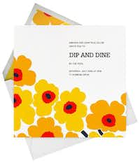 Unikko designs for online invitations and announcements or handwritten notes at paperlesspost.com. The newly released Marimekko collection includes some 40 designs.( Paperless Post )