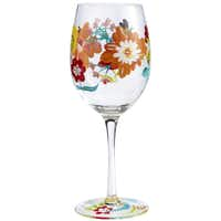 Wine and dine: Toast Mom with spring floral goblets hand-painted on bowl and base. Glasses are 3.5 inches in diameter by 5.5 inches high. Matching martini glasses and pitcher also are available. $9 at Pier 1 stores and at pier1.com.