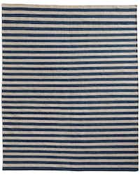 Underfoot: Restoration Hardware has tapped luxury rug maker Ben Soleimani to design a handful of products, including hand-knotted outdoor rugs. They look similar to wool but are sturdy enough to withstand the elements. Awning Stripe flat-weave outdoor rug in Marine, $329 for 3-by-5 feet to $3,989 for 12-by-15 feet. At Restoration Hardware, Dallas; the Shops at Willow Bend, Plano; and restorationhardware.com.( Supplied  - SUPPLIED)