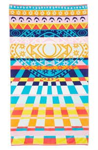 New York fashion designer Mara Hoffman collaborated with Pendleton on the trippy astrological design (above) that would stand out among loungers. Mara Hoffman for Pendleton's Rays towel in pink, $78, at Nordstrom, multiple locations, and nordstrom.com