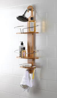 Umbra's contemporary shower caddy is made of bamboo and stainless-steel wire to keep all of Dad's essentials in order. $39.99 at Bed Bath & Beyond and bedbathandbeyond.com.
